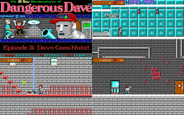 Dangerous Dave 4.Dave Goes Nutz!