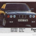 Вкладыш жвачки Турбо BMW 735i.Ты из 90-ых